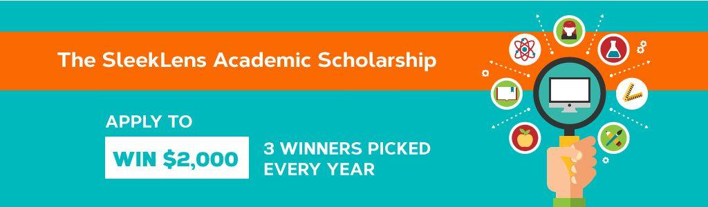 sleeklens scholarship banner