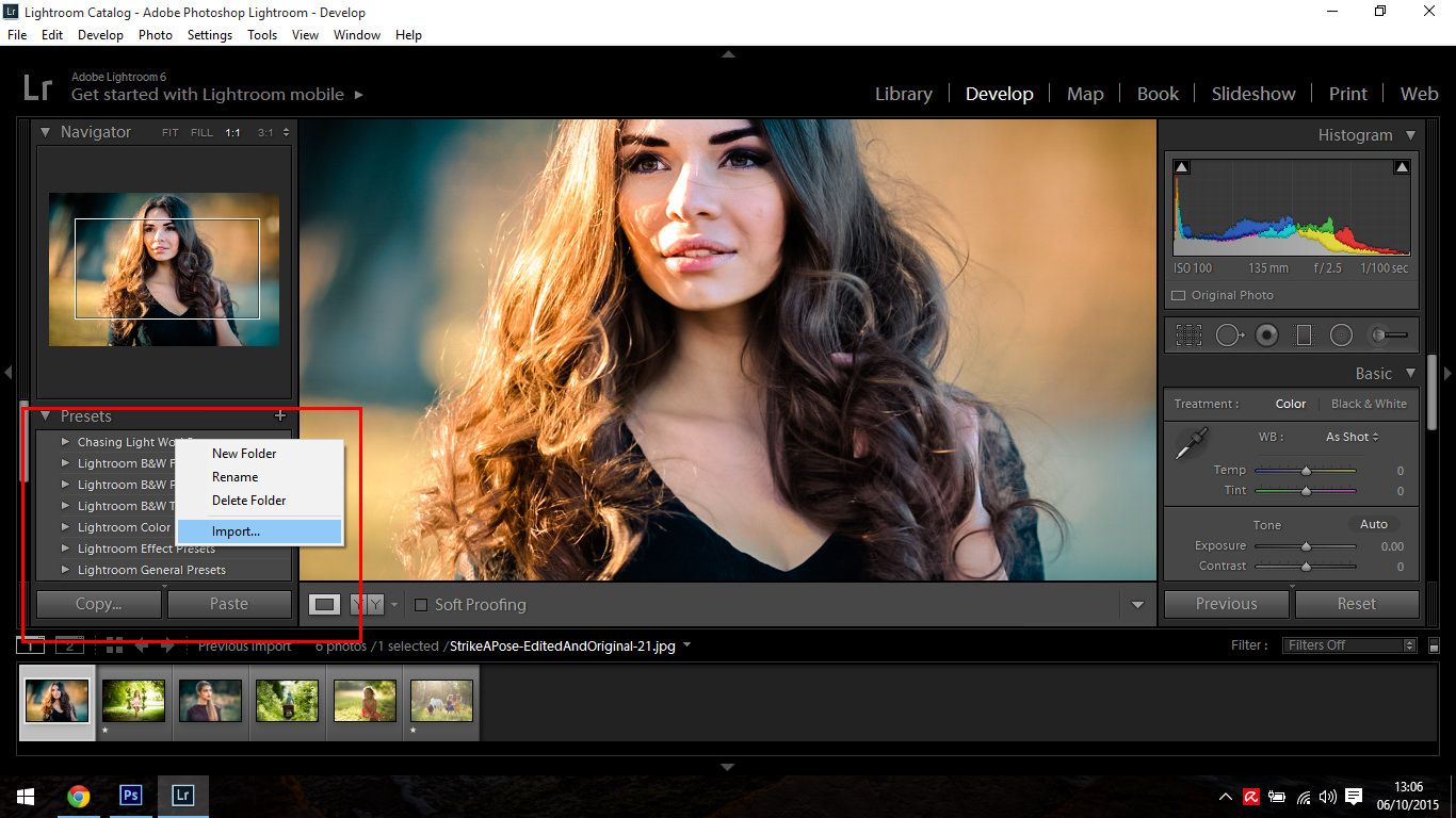 Importing and Reviewing Presets Pic 5