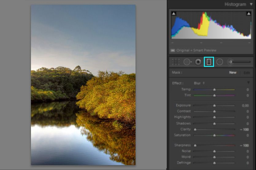 Create a graduated filter mask