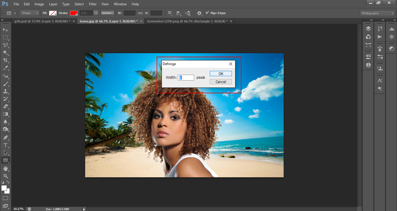 how to cut out a model with hair in photoshop