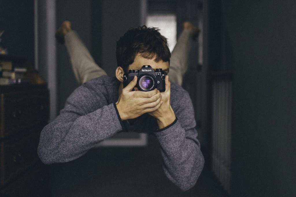 man_camera