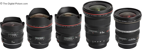 Wide-angle lenses of Canon. (Courtesy: the-digital-picture.com)