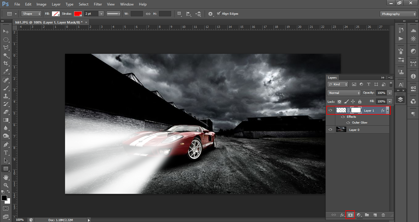 how to change a white car to black in photoshop