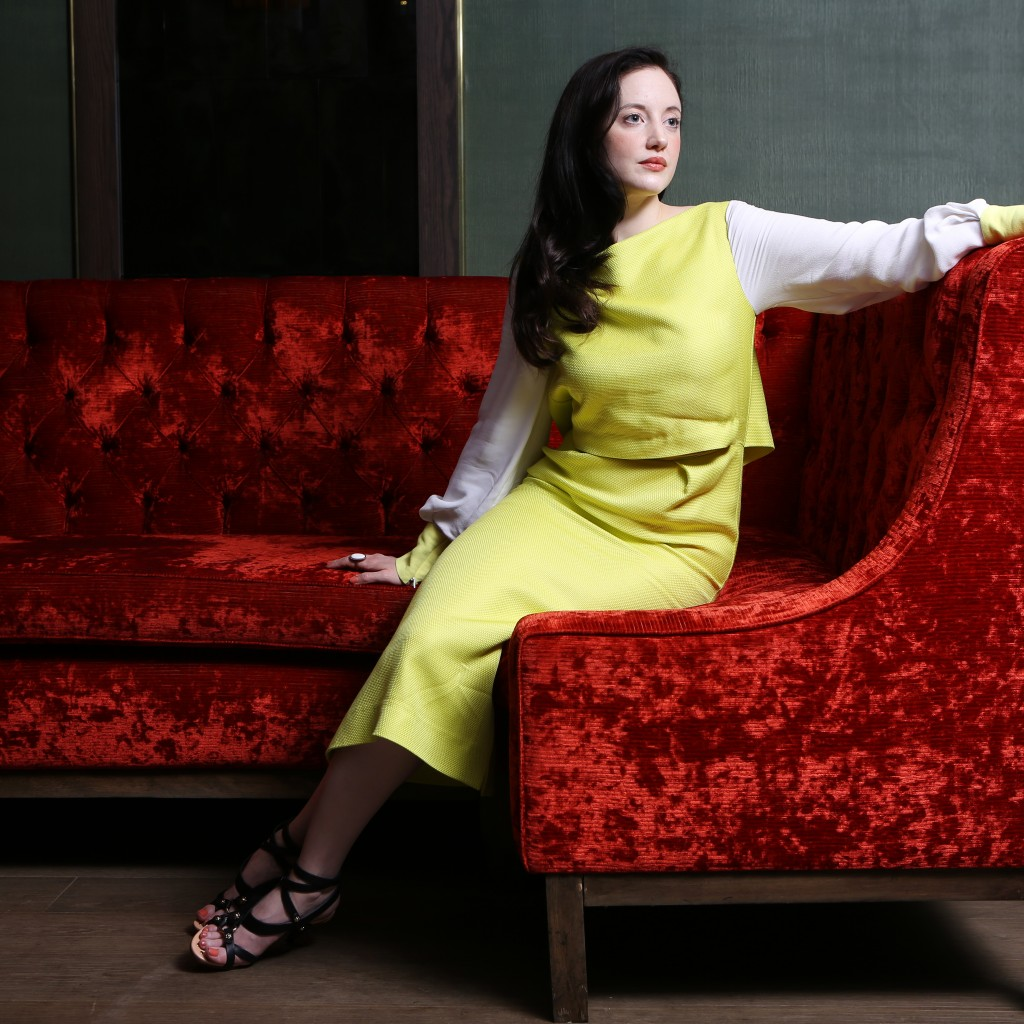 Portrait of actress Andrea Risborough at the Mayfair Hotel, Piccadilly, London. PHOTO MATT WRITTLE Picture commissioned exclusively for the London Evening Standard. Use in another publication will require a fee.
