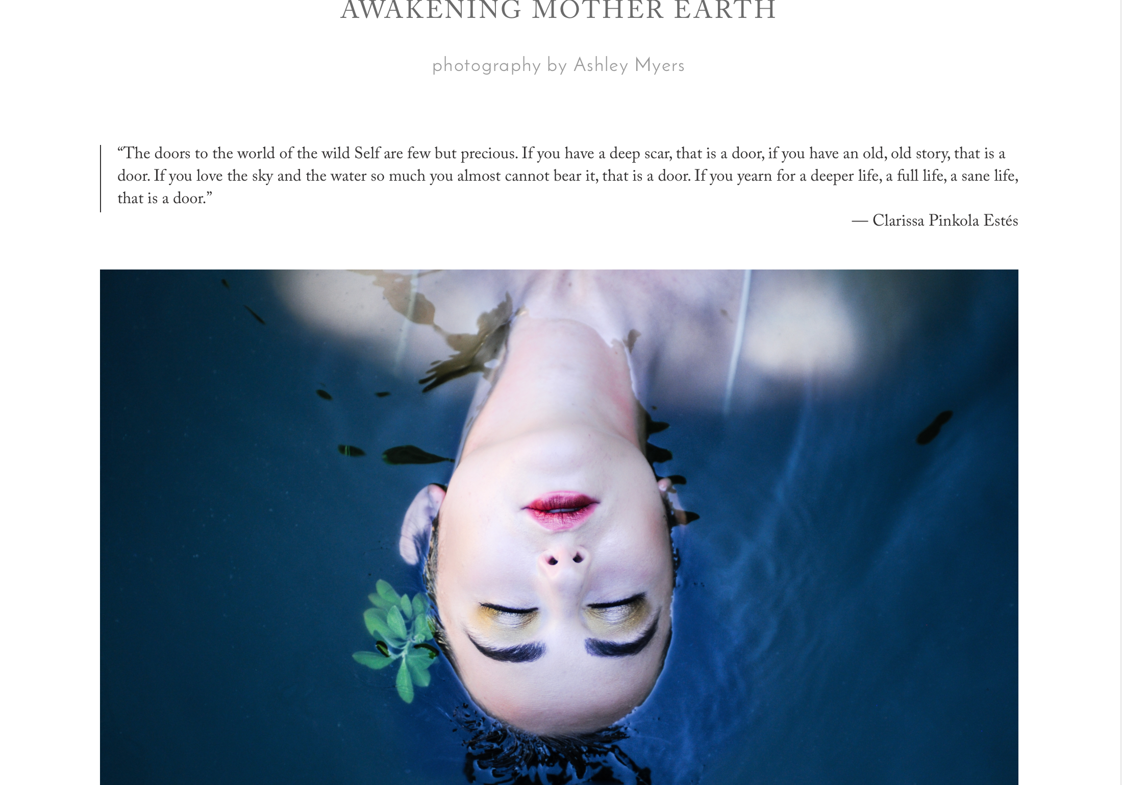 Cordella Magazine showcasing Awakening Mother Earth