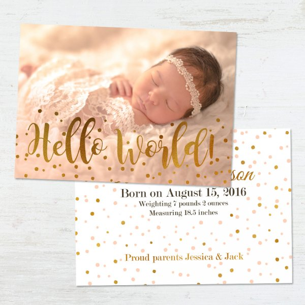 Birth Announcement Templates – Free Baby Boy Birth Announcement Template