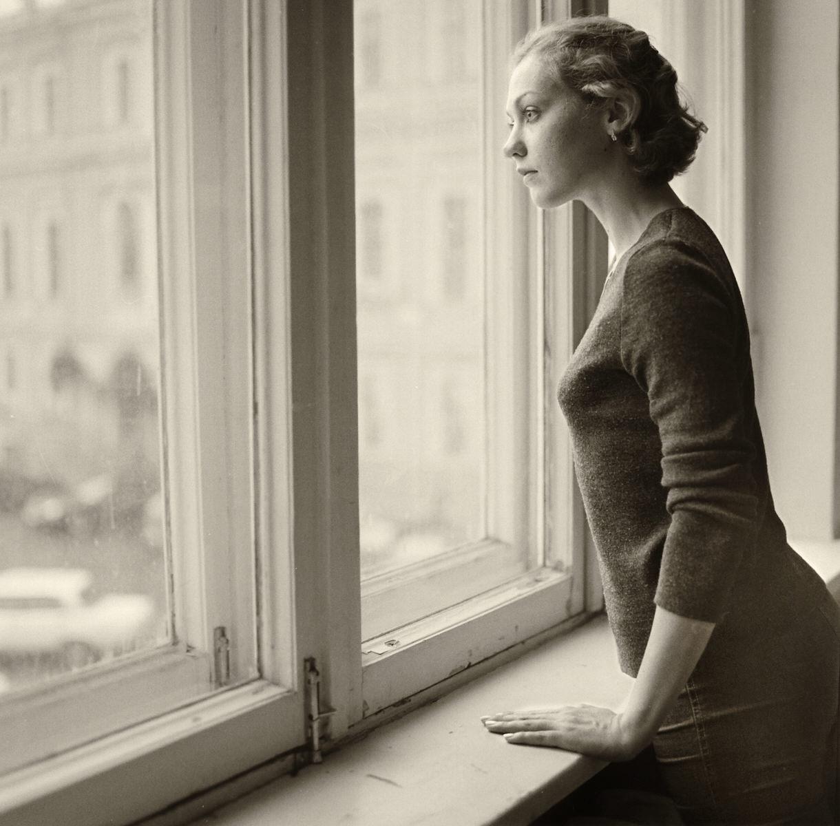 circus woman at window