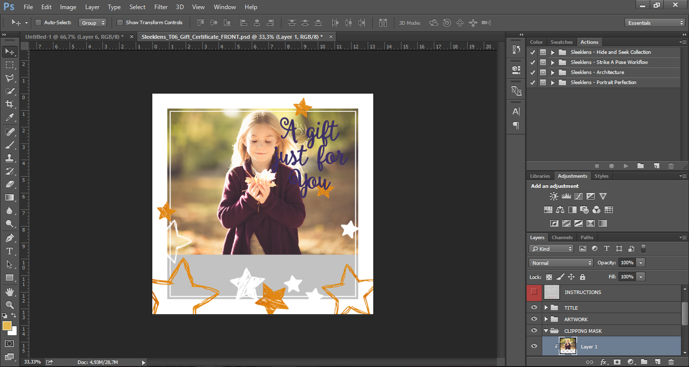Photoshop Templates: How To Use The Sleeklens Photoshop Templates For Photographers