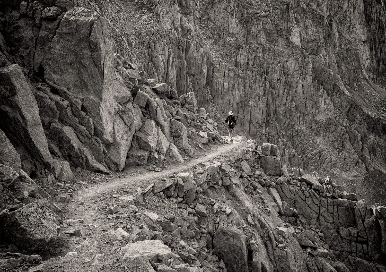 This was more about adding a human element to the scene (Mt. Whitney trail) than showing my face.