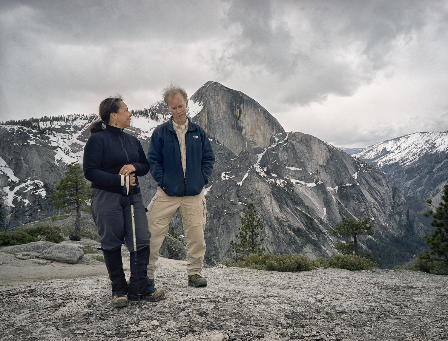 Half Dome, Yosemite National Park. Shot with the camera's built-in self-timer