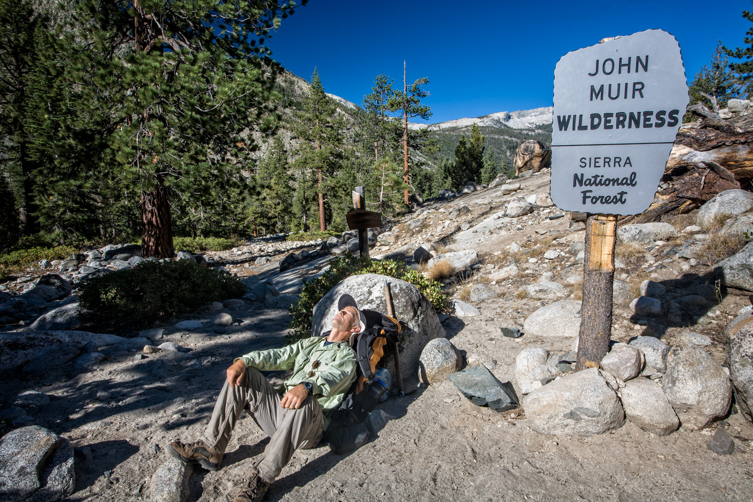 This is really the simplest of all super selfies, but it does tell a brief story about my solo trip on the Pacific Crest Trail through the High Sierras.