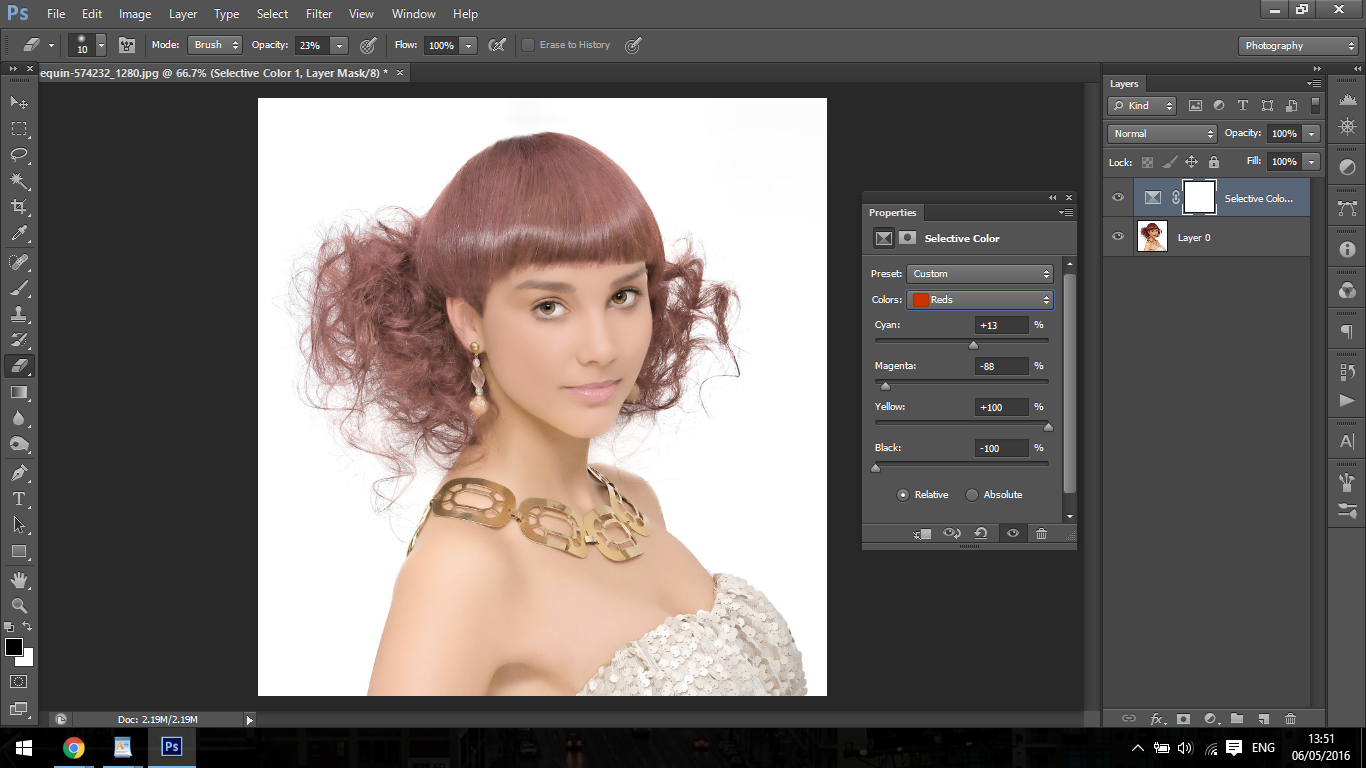how to change hair colour to black in photoshop