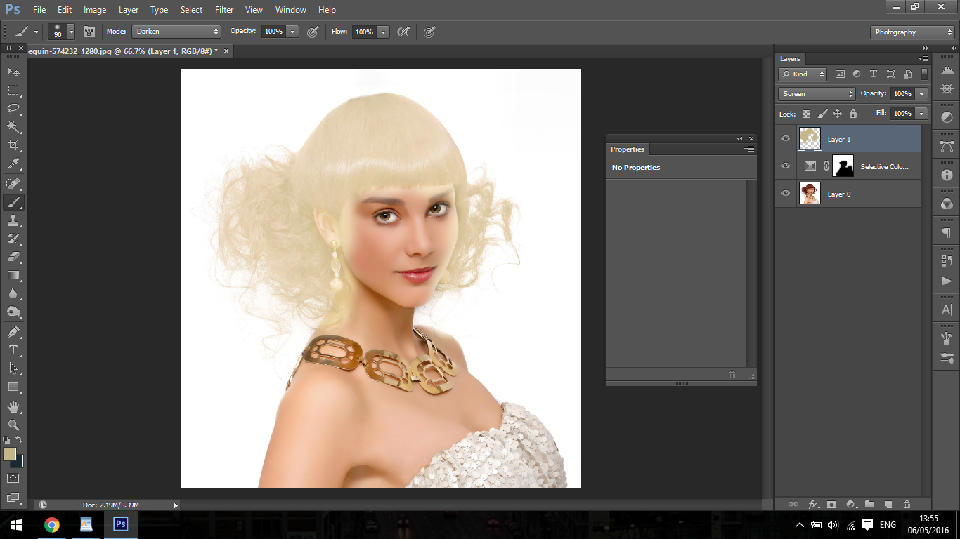 how to change your hair in photoshop