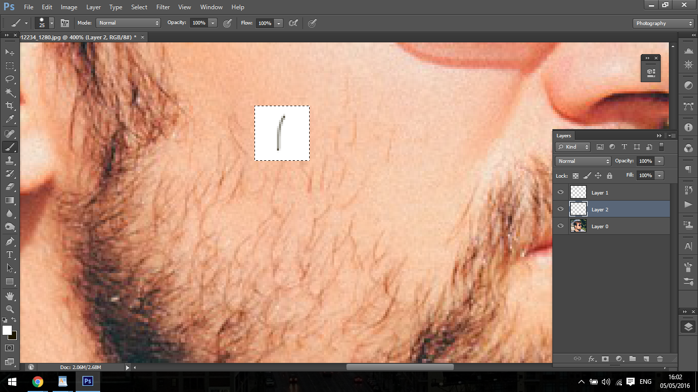 How to create Facial Hair using Photoshop