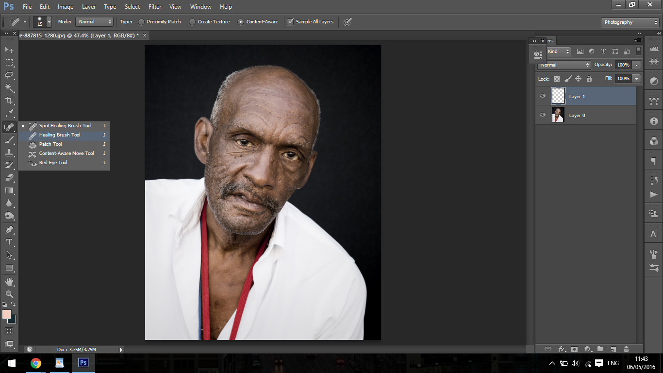how to add wrinkles in photoshop