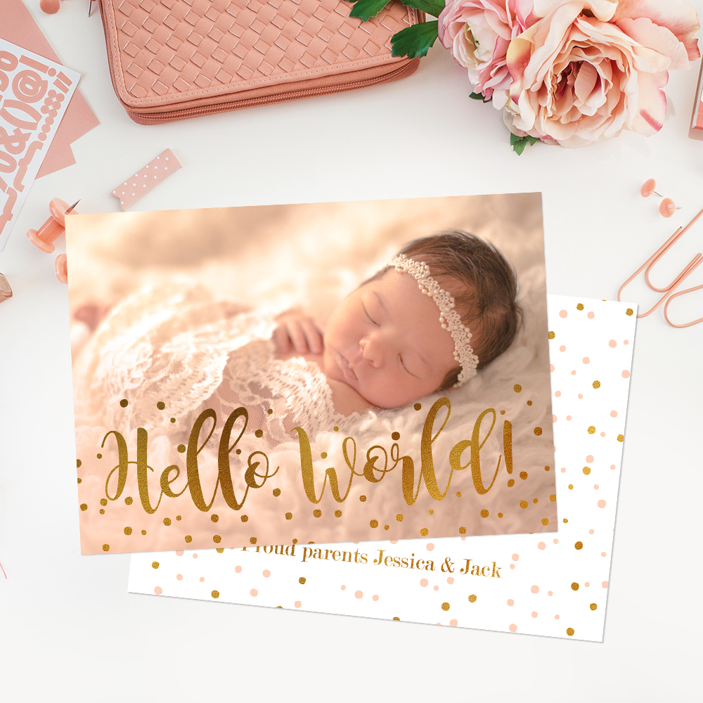 How to work with birth announcement templates in adobe for Free online birth announcements templates