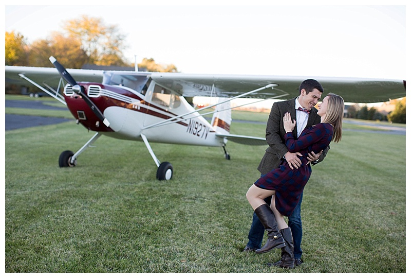 airplane engagement pictures