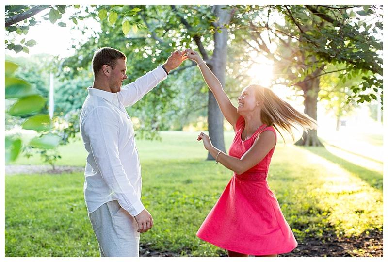 dancing engagement photos