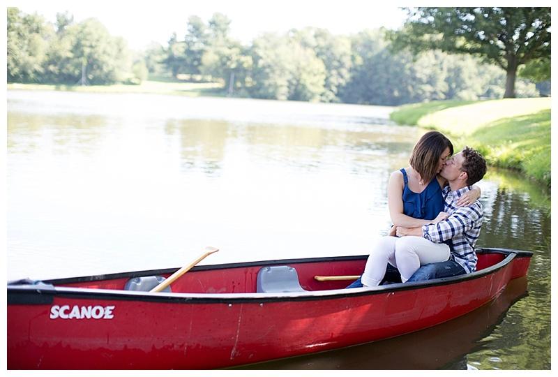 canoe engagement pic