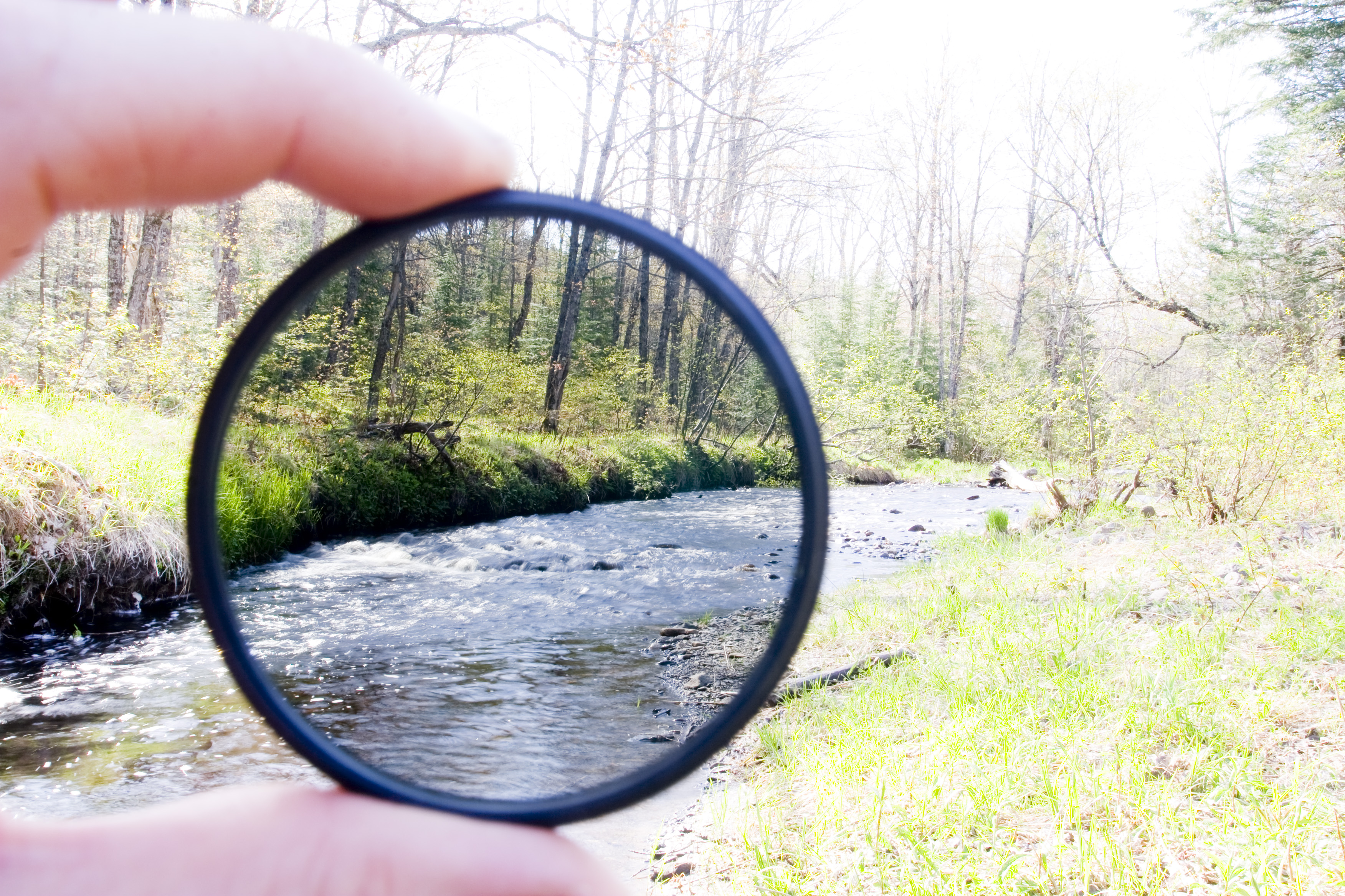 Поляризационный фильтр для объектива