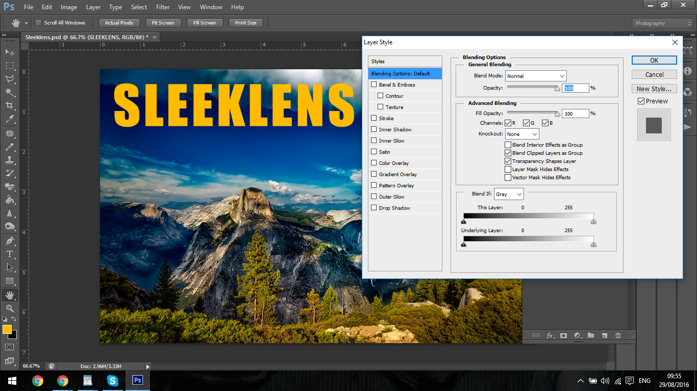 Learn Adobe Photoshop Layer Styles with Sleeklens