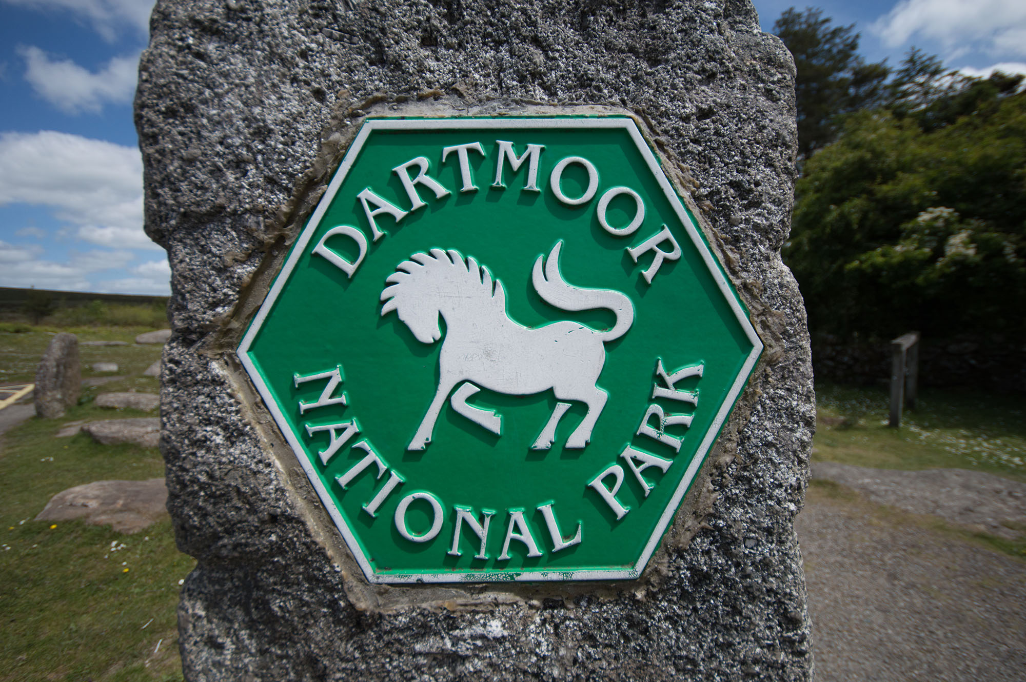 Dartmoor National Park Sign