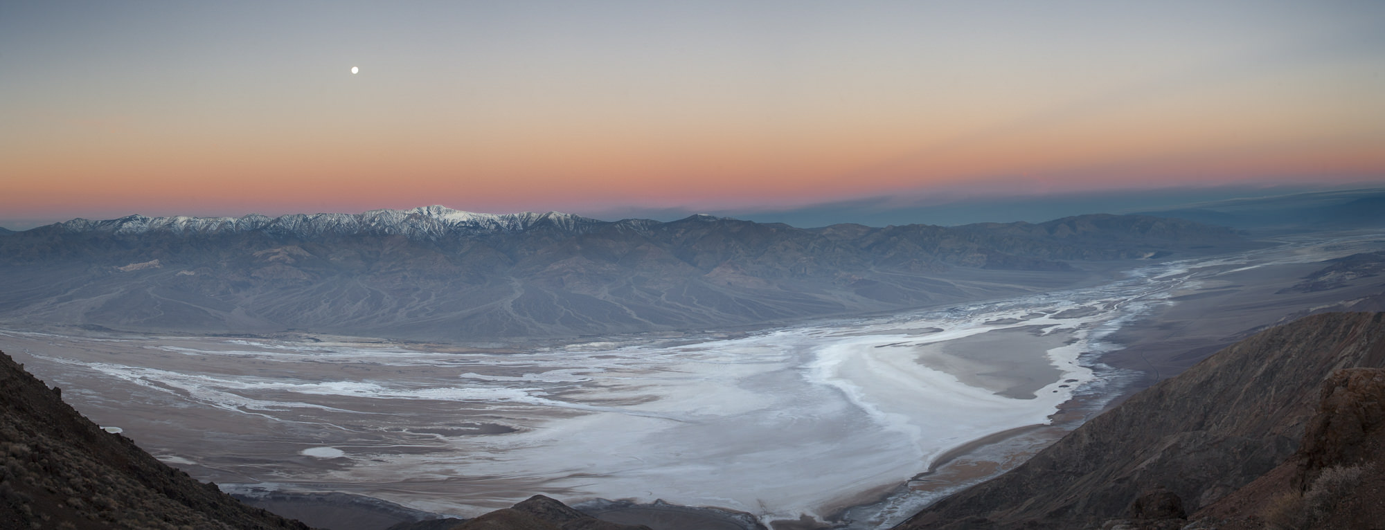 Death Valley's playa as seen from Dantes View. Eleven frames stitched into a panorama.