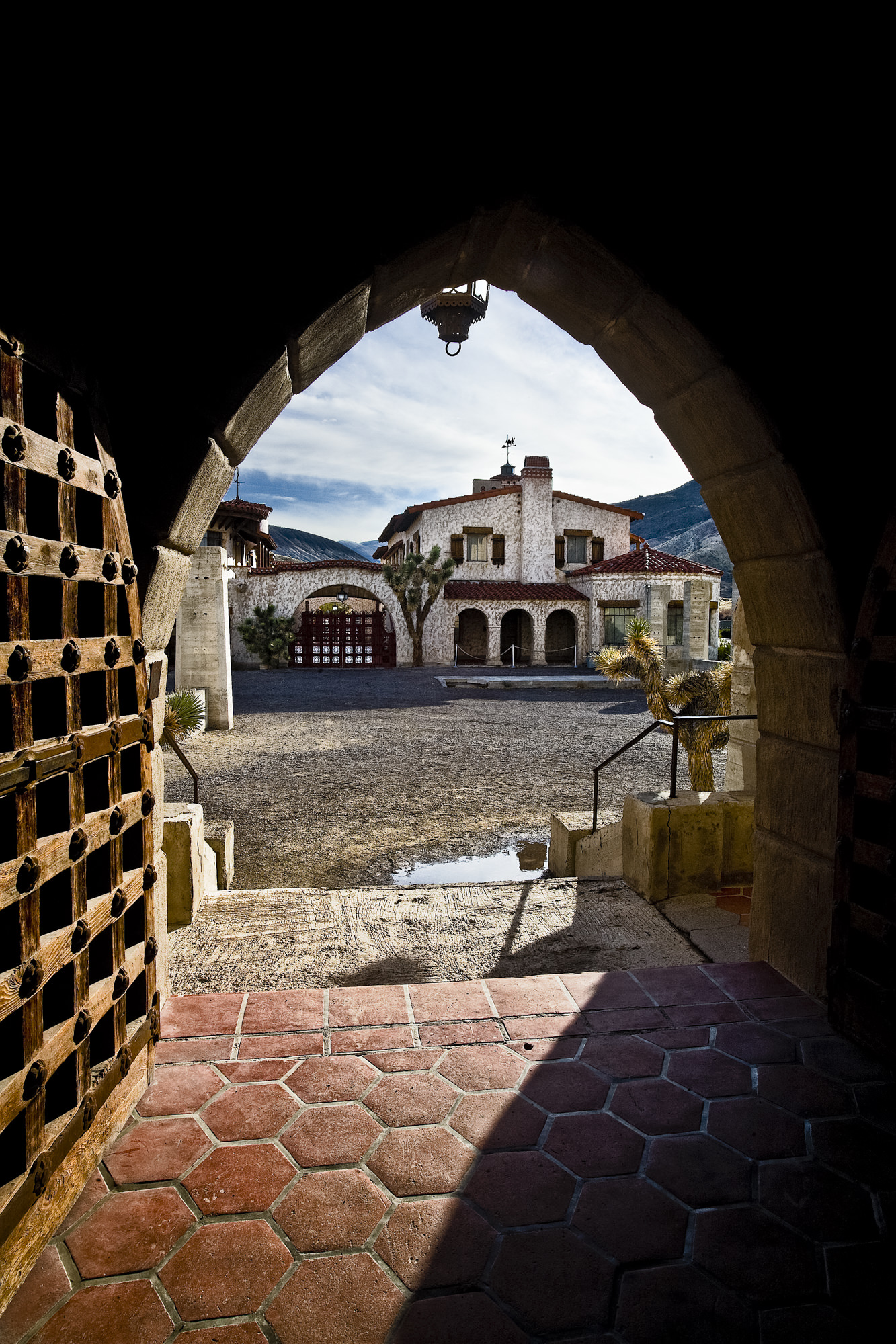 Scotty's Castle: There are many archways that make great framing elements.