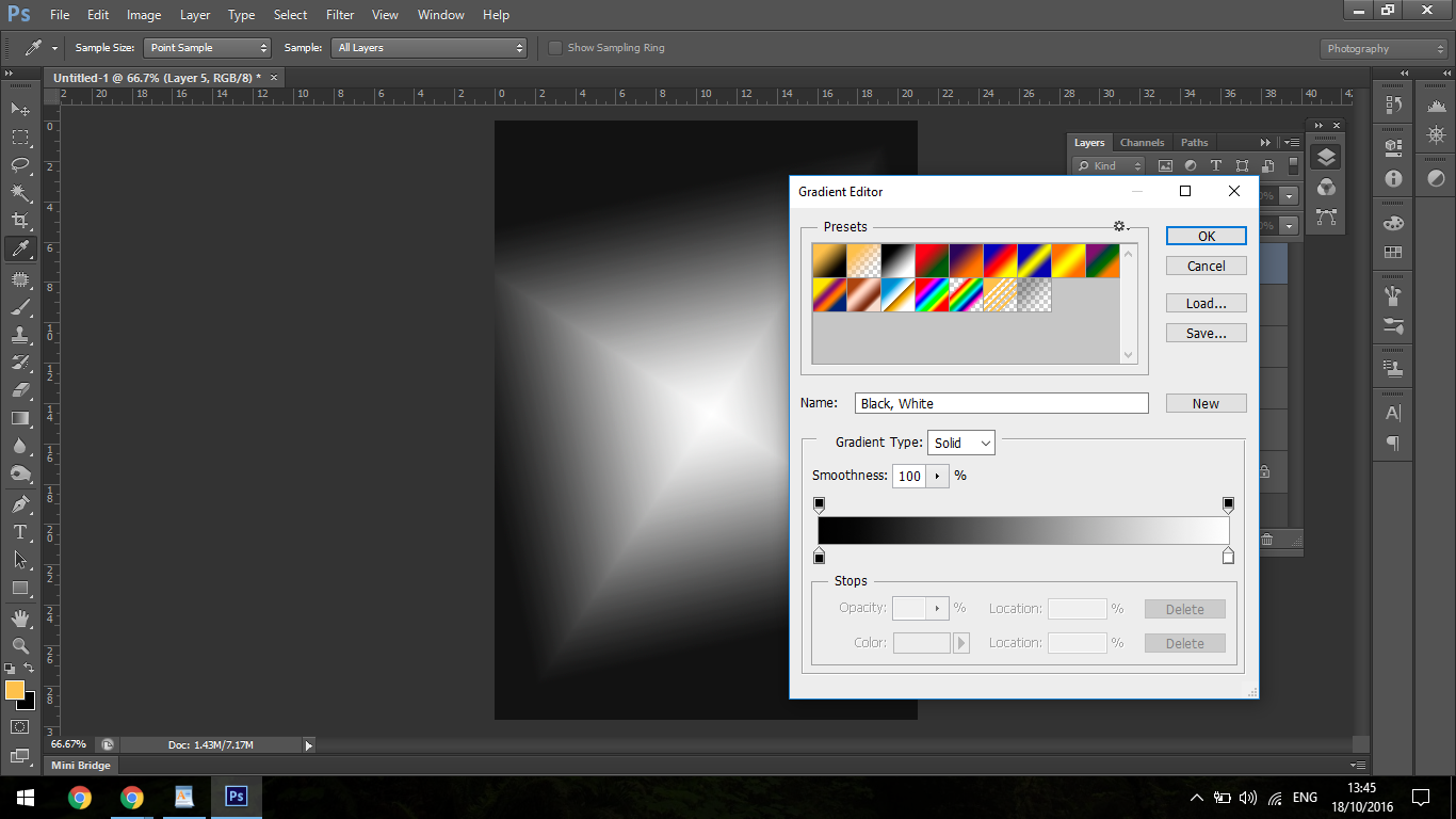 how to create transparent gradient in photoshop