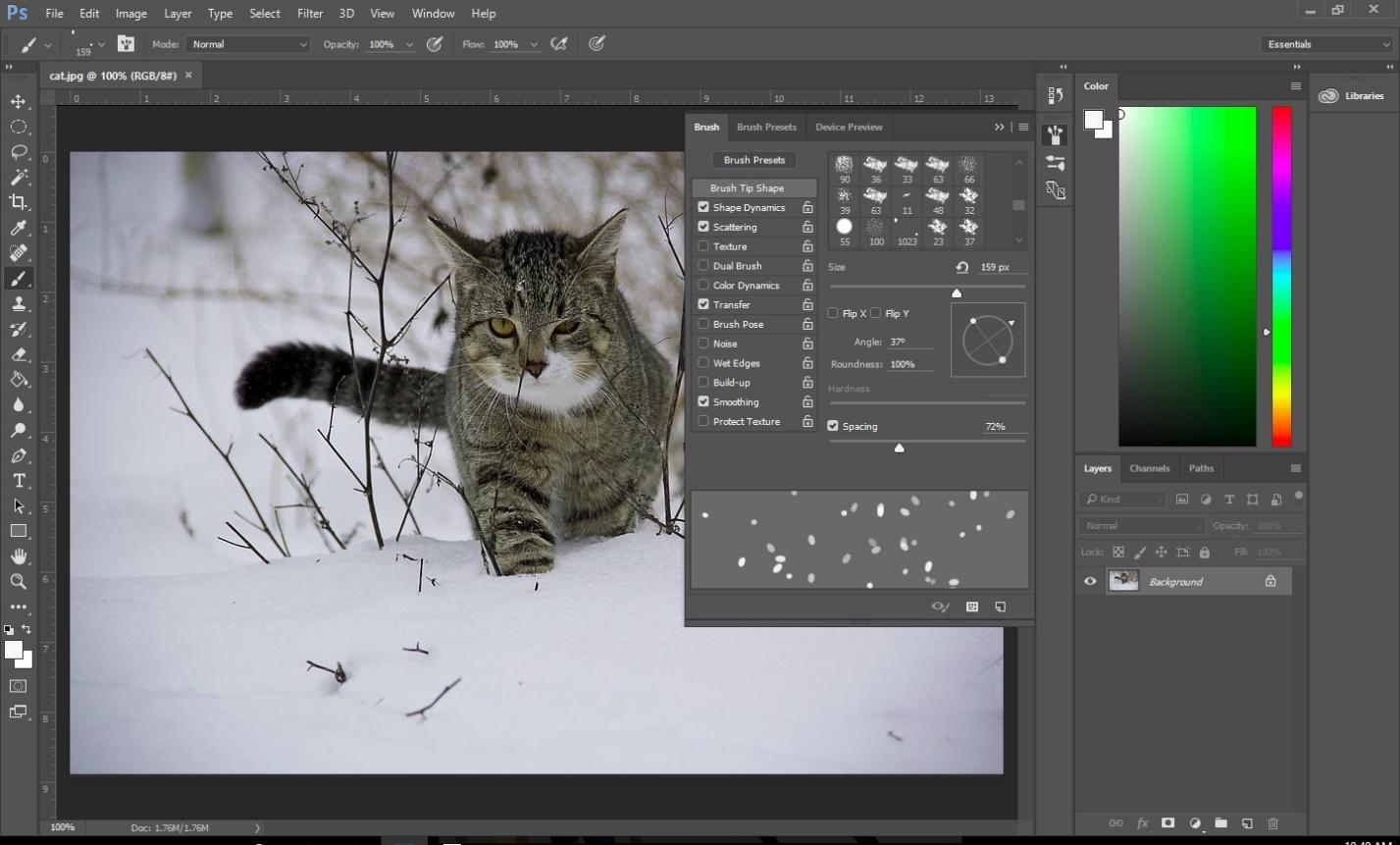 create-snow-photoshop-3