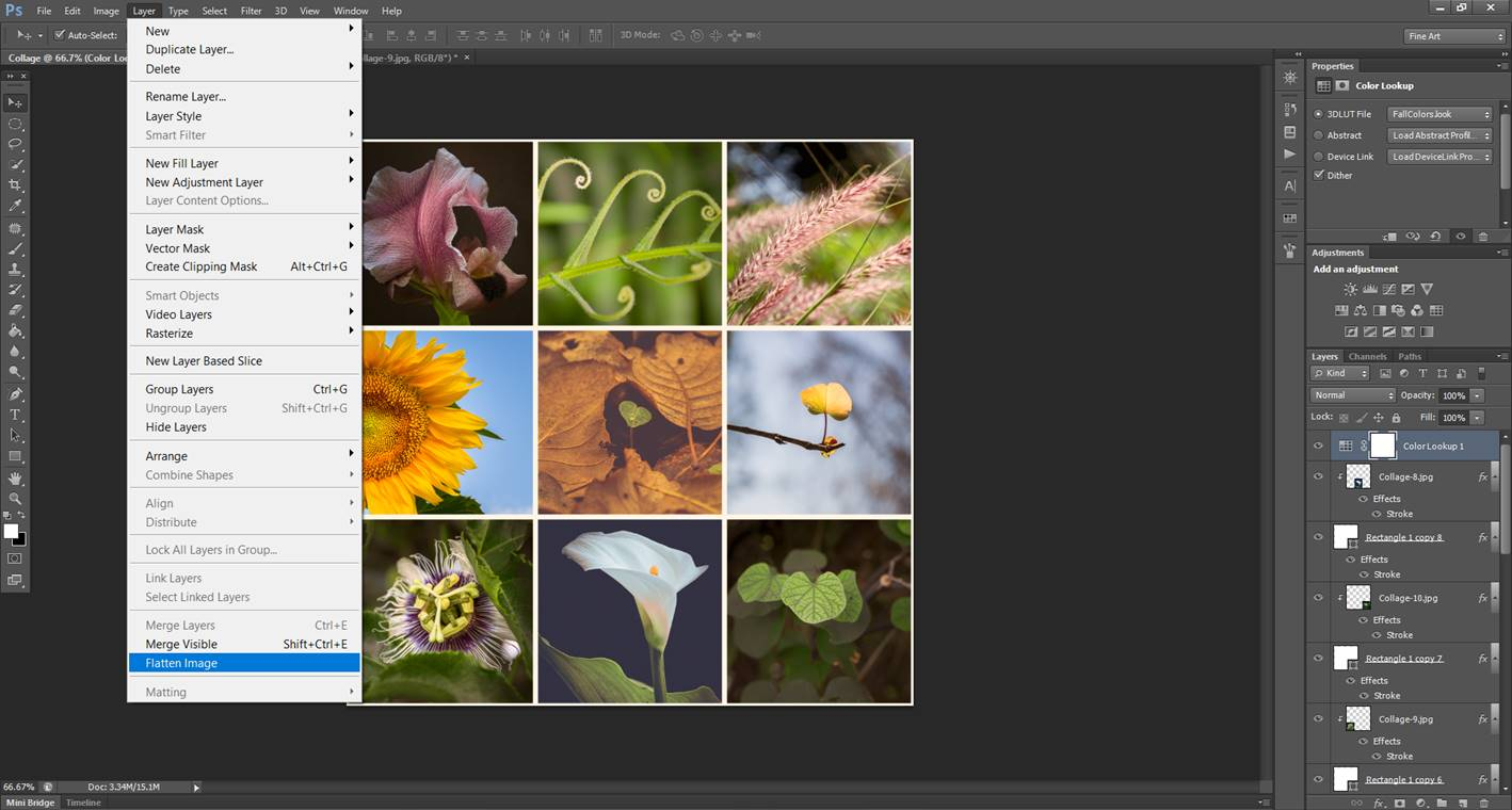 how to change properties in photoshop for pixel grid