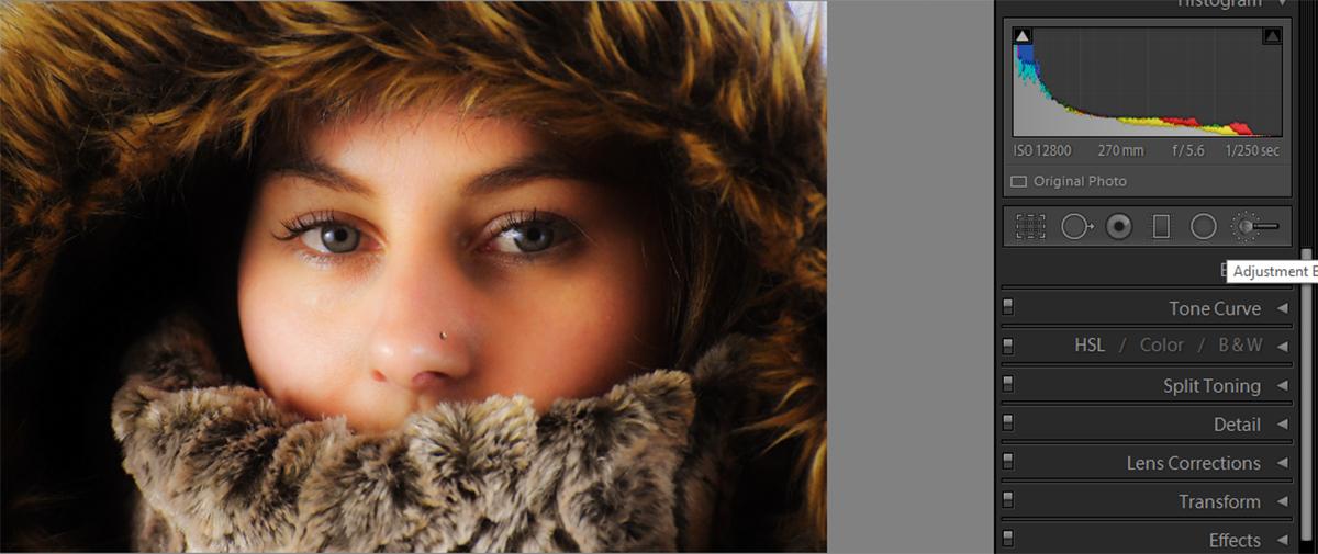 softening portrait texture