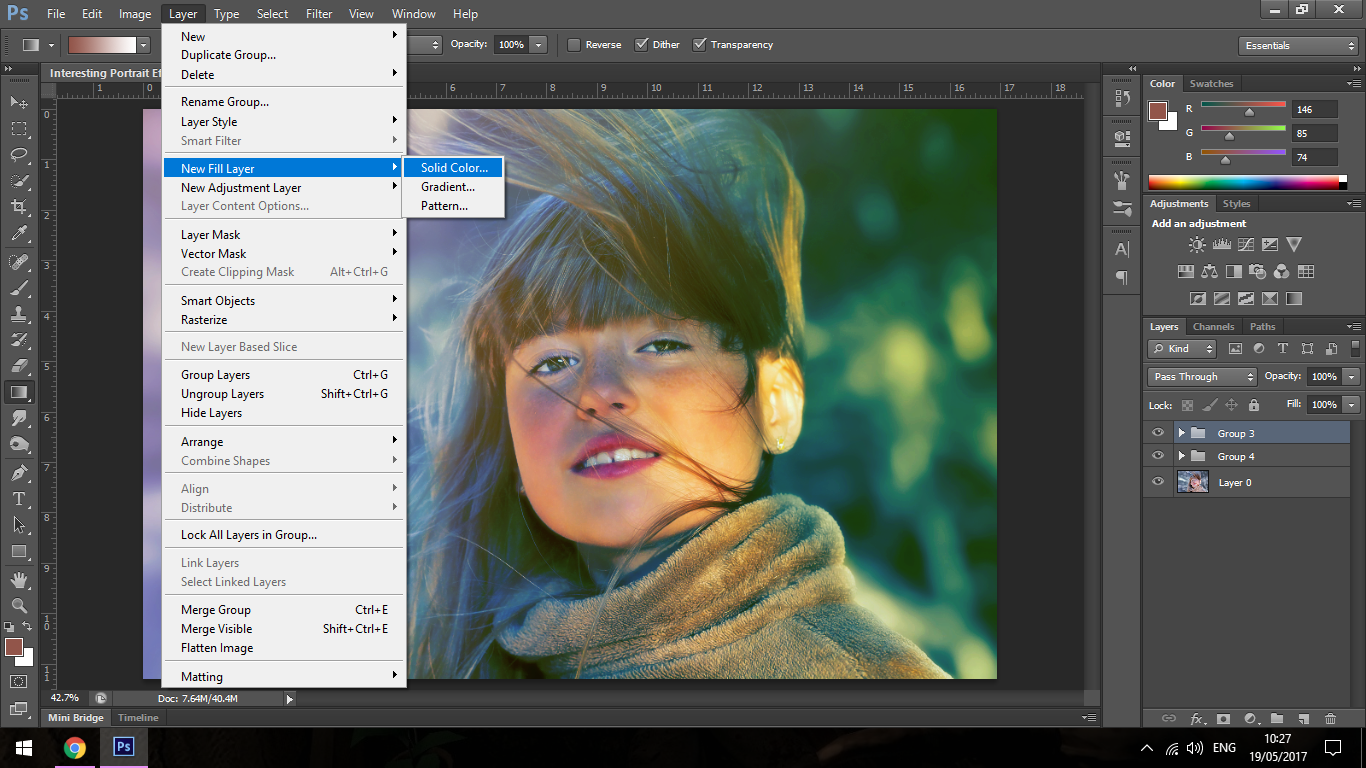 how to change an index layer in photoshop