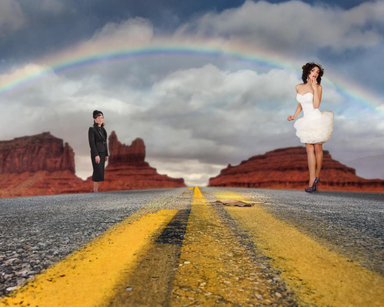 Create a beautiful rainbow photo composite in adobe photoshop photoshop baditri Images