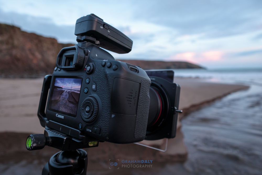Picture of camera with graduated nd filters in use