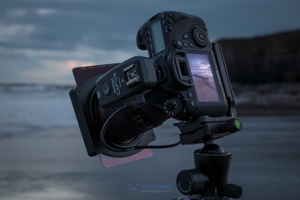 Picture of camera with graduated nd filter in use