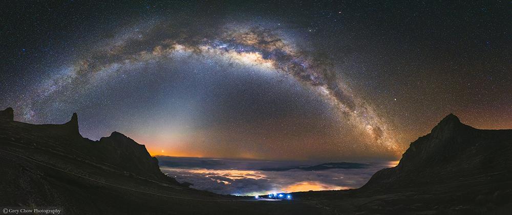 Mount Kinabalu Milky Way Panorama