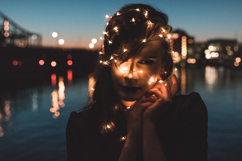 nighttime portrait