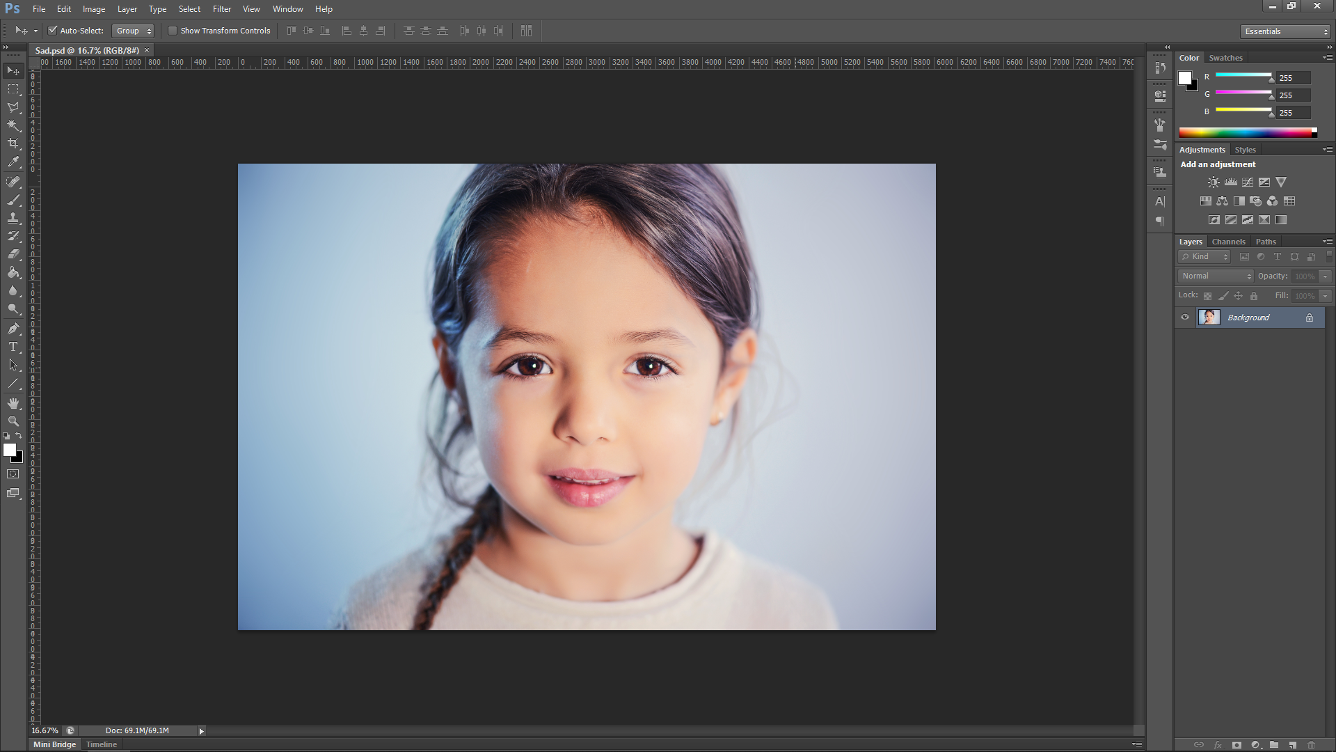 Happy to sad using Photoshop