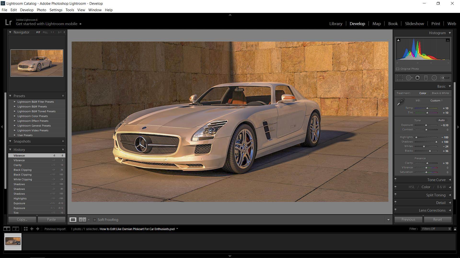 Edit Like Damian Pliskoart For Car Enthusiasts