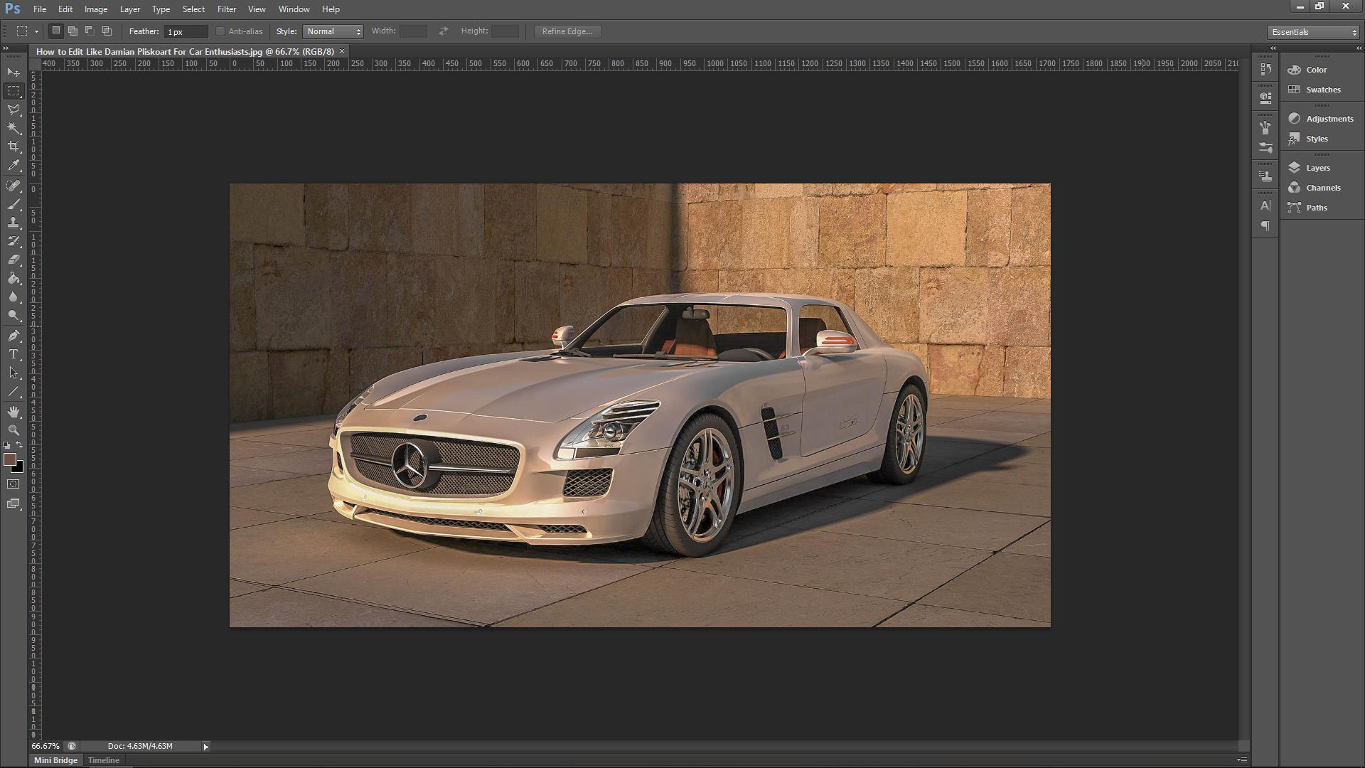 Photoshop Tutorial Car Edit