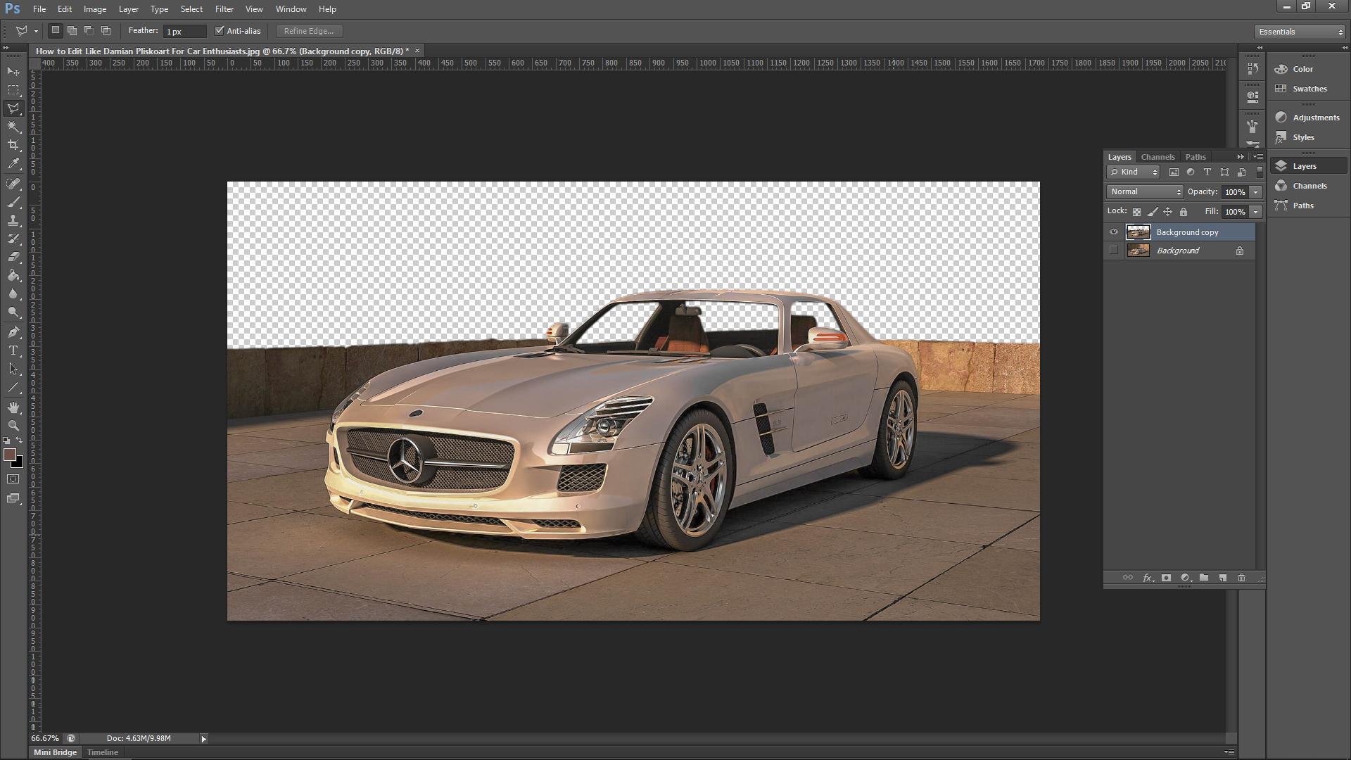 Photoshop Car Editing
