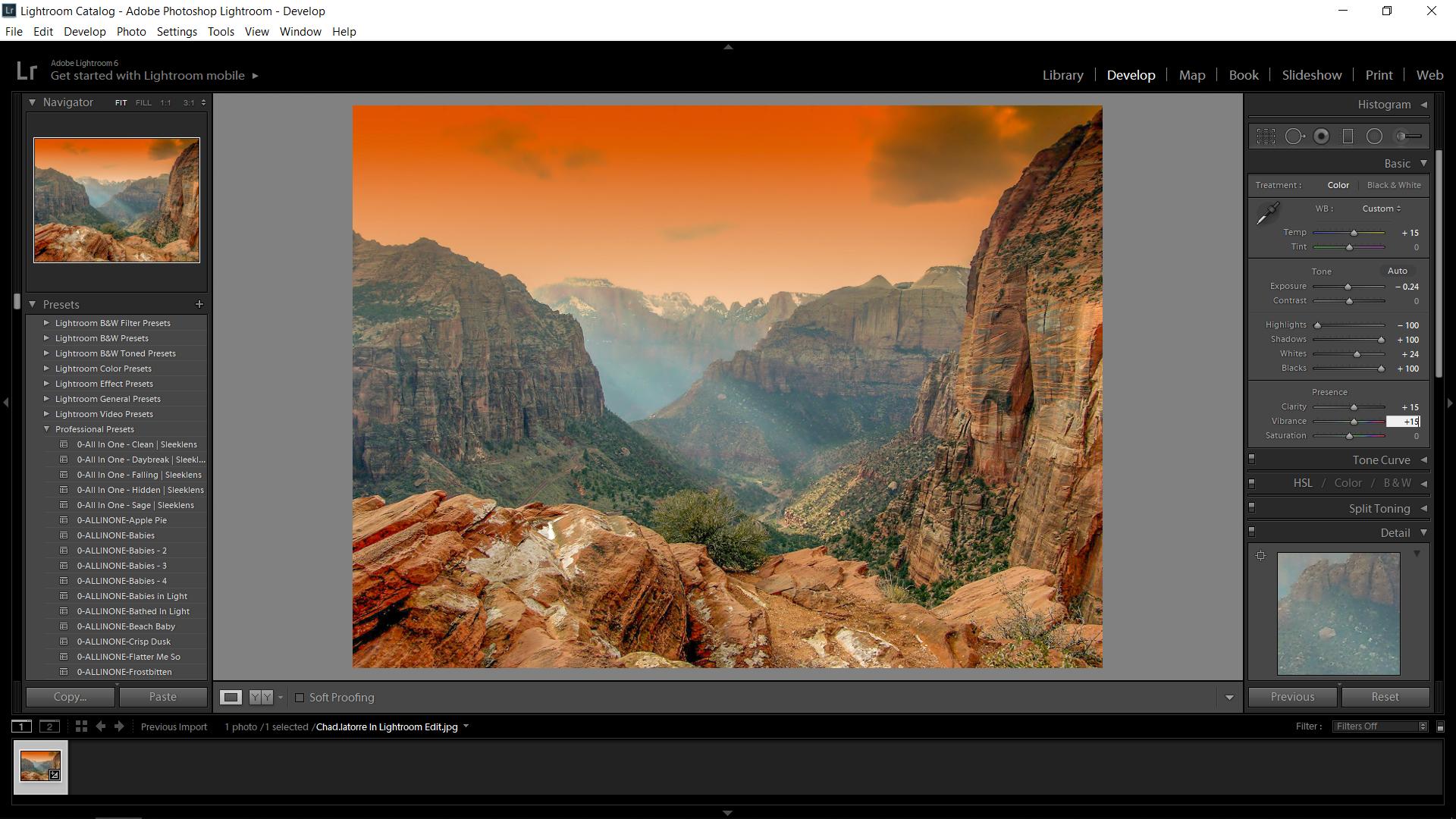 Lightroom Landscape Edit