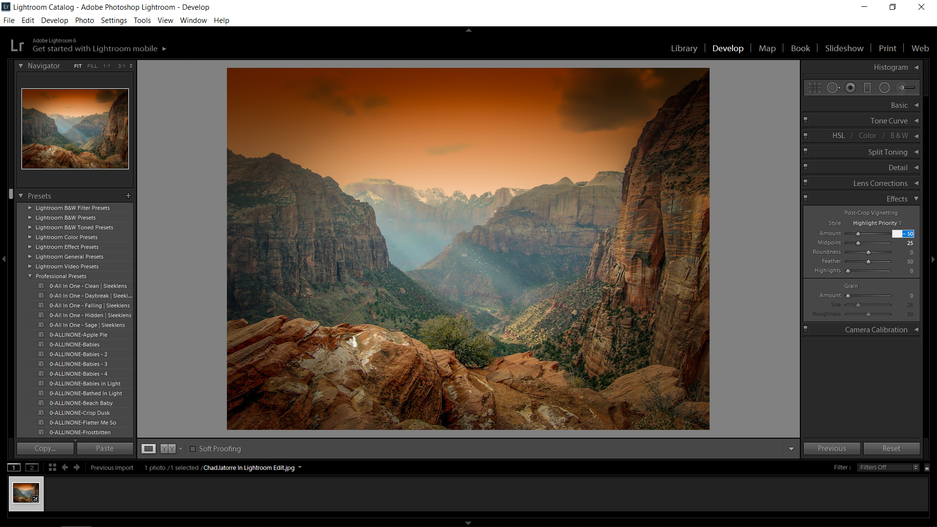 Lightroom Edit Landscape