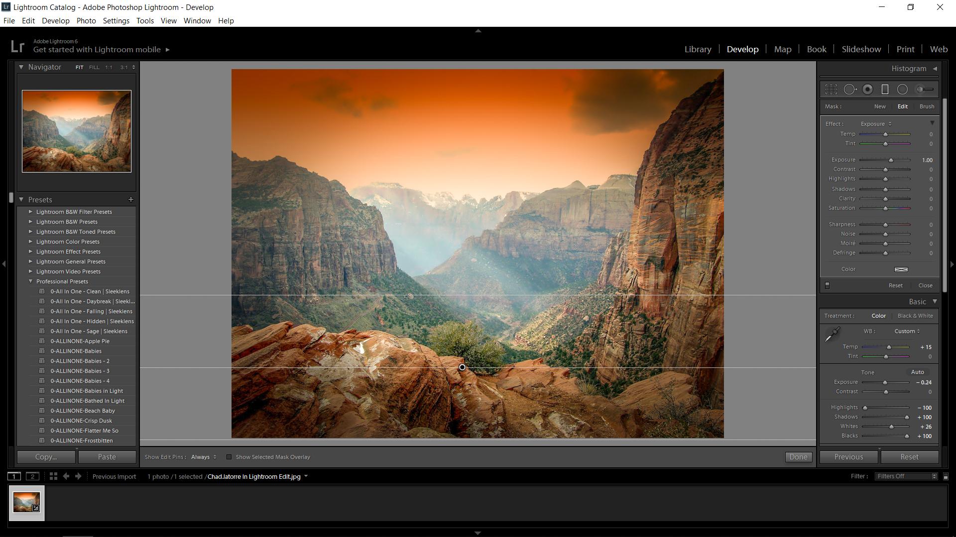 Lightroom Editing Landscapes