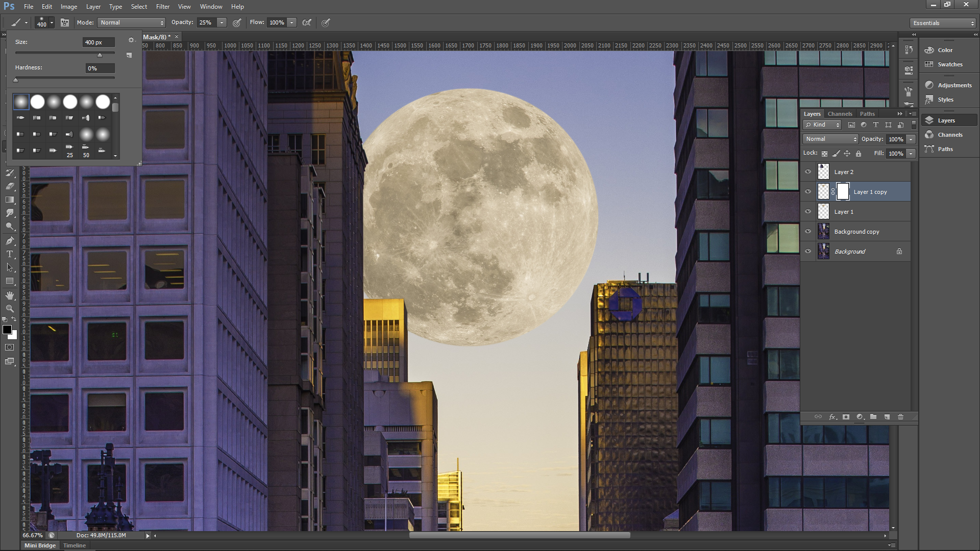 Day Moon Photoshop