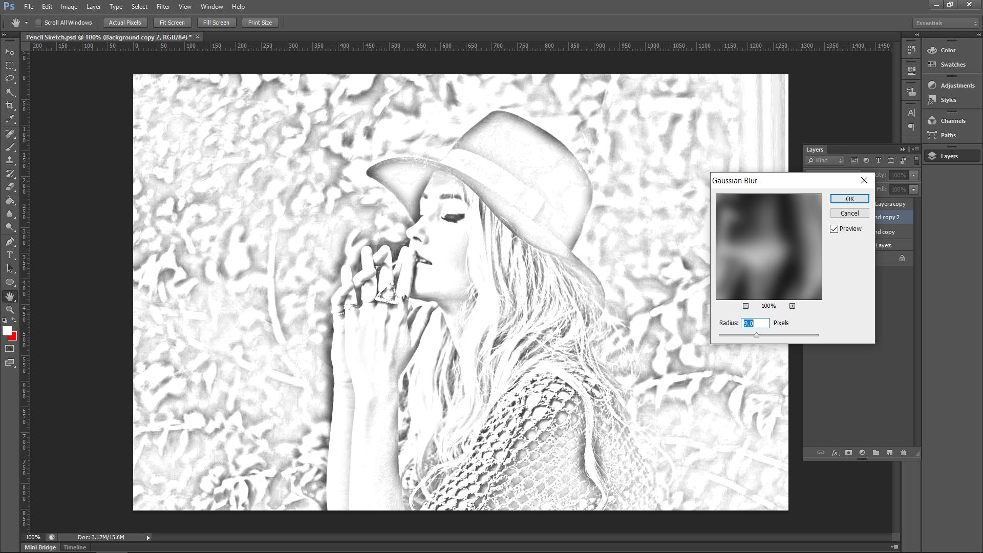 Photoshop Effect Sketch
