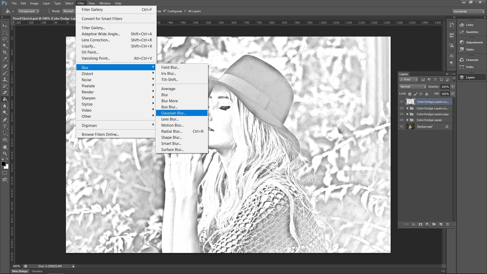 Photoshop Sketch Effect