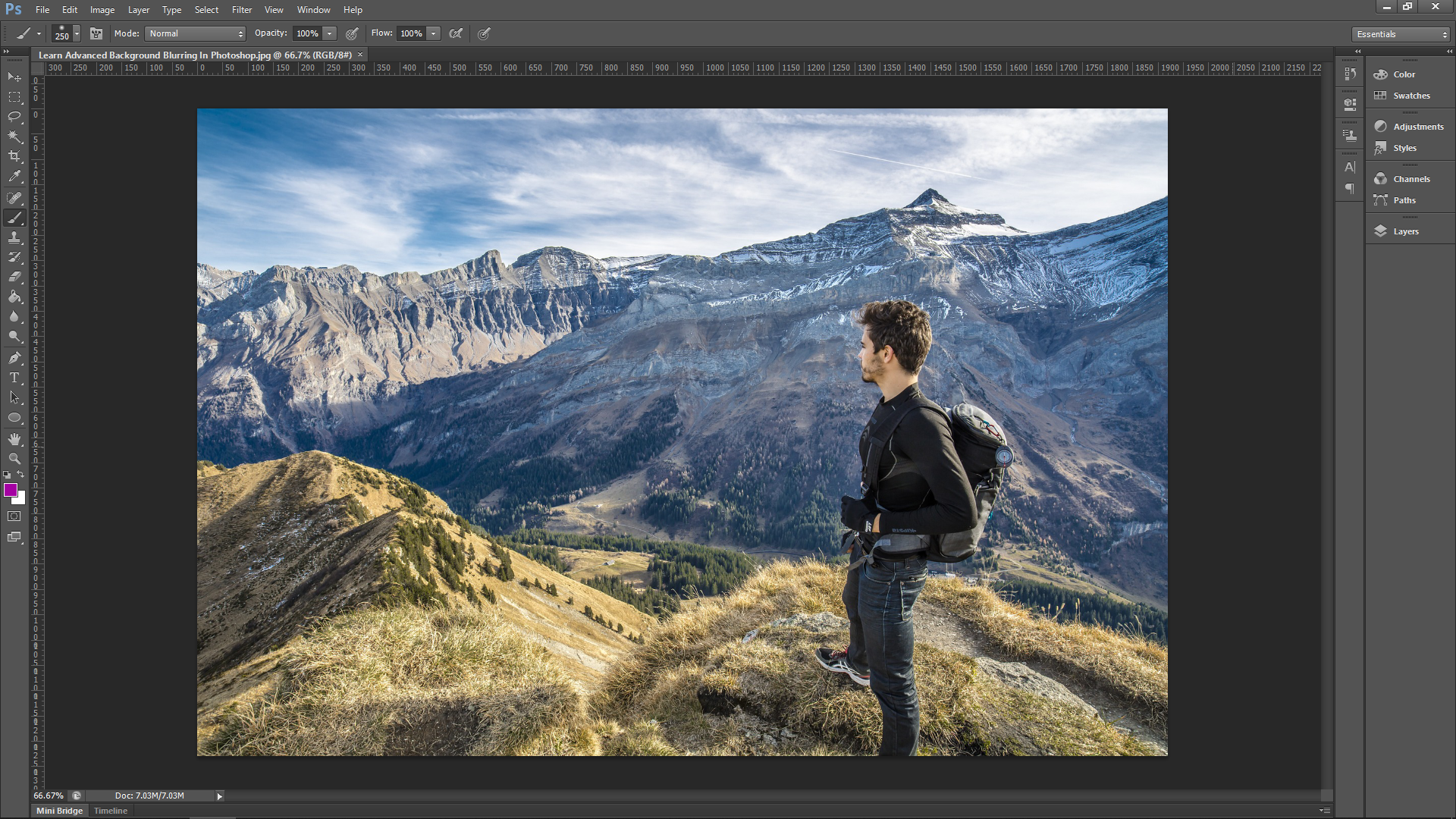 Advanced Blurring in Photoshop