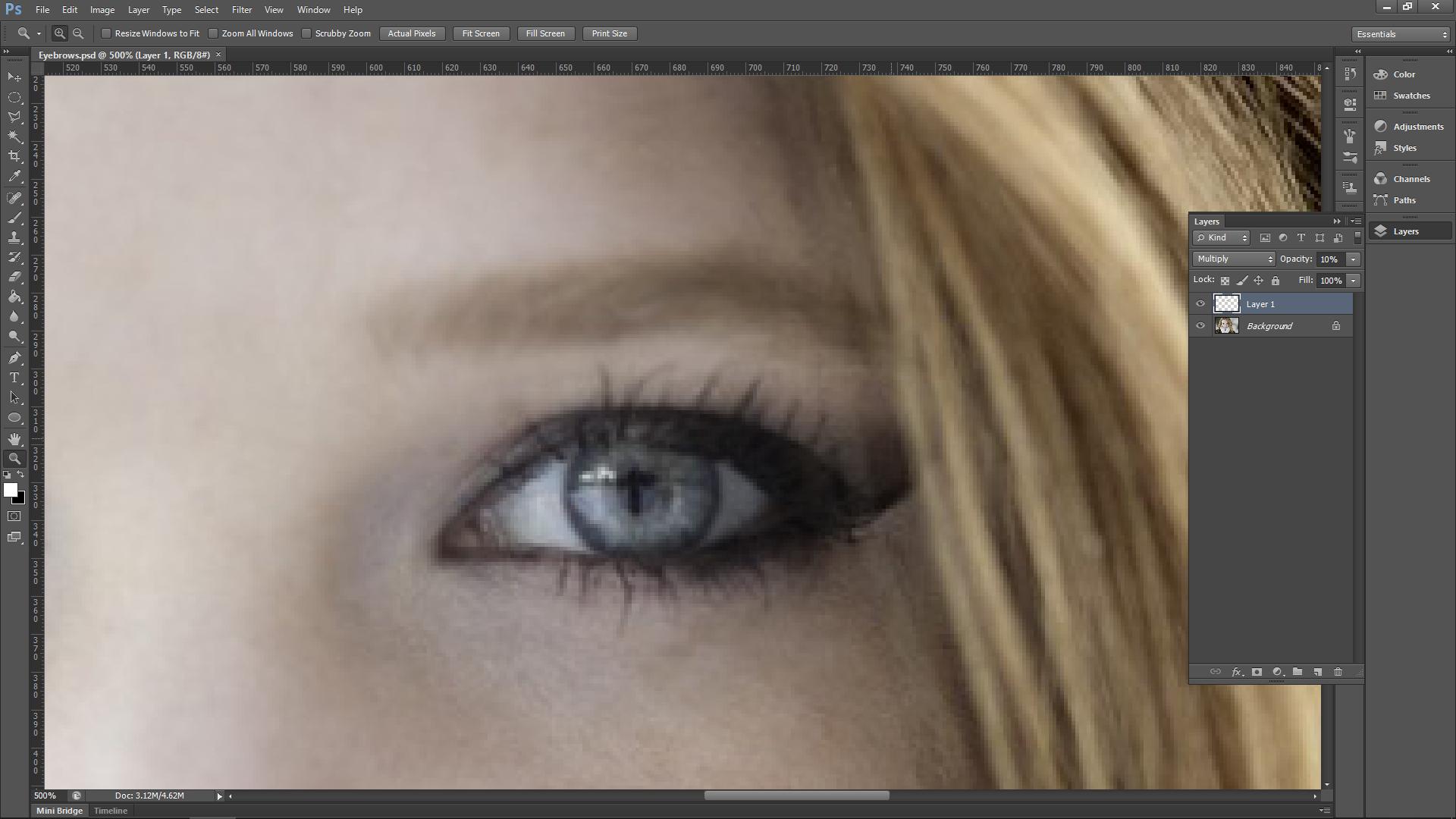 Photoshop Eyebrow Tutorial